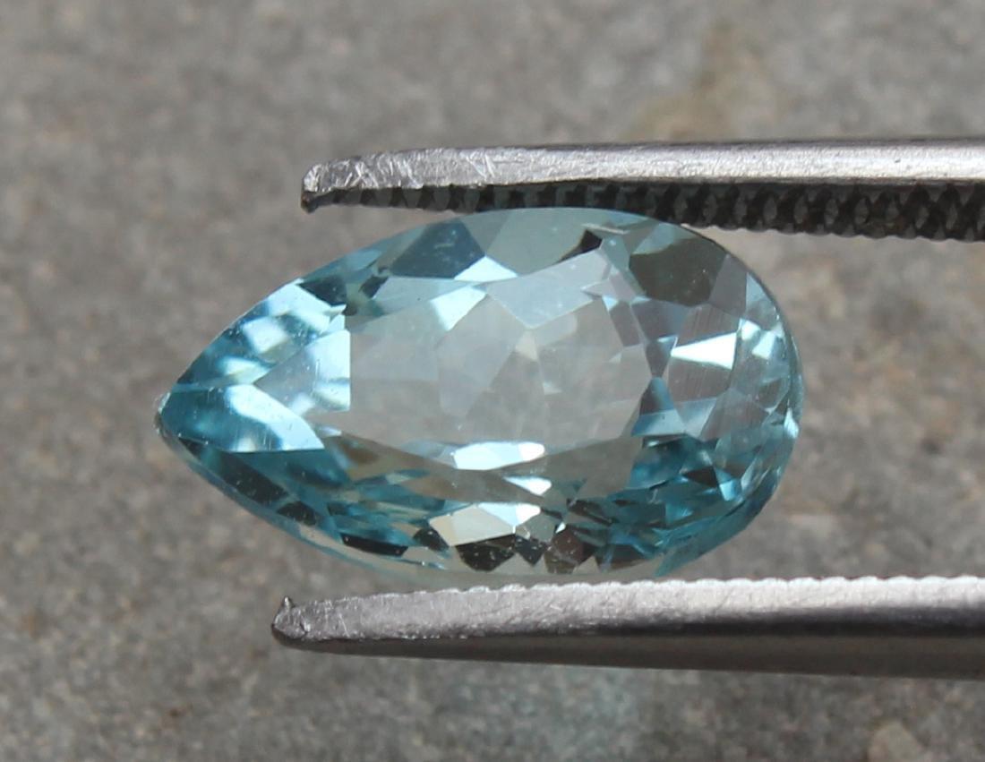 1.74 Ct Aquamarine Pear Gemstone - 2