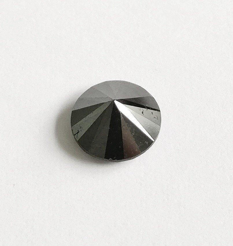 1.75 ct Round cut diamond Fancy Black - 2