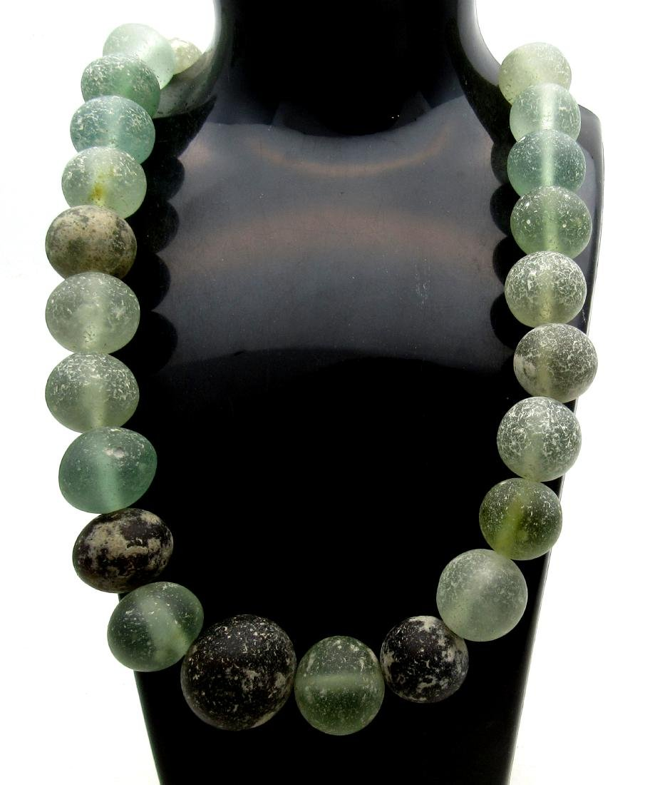 Medieval Crusaders Holy Land Glass Beaded Necklace