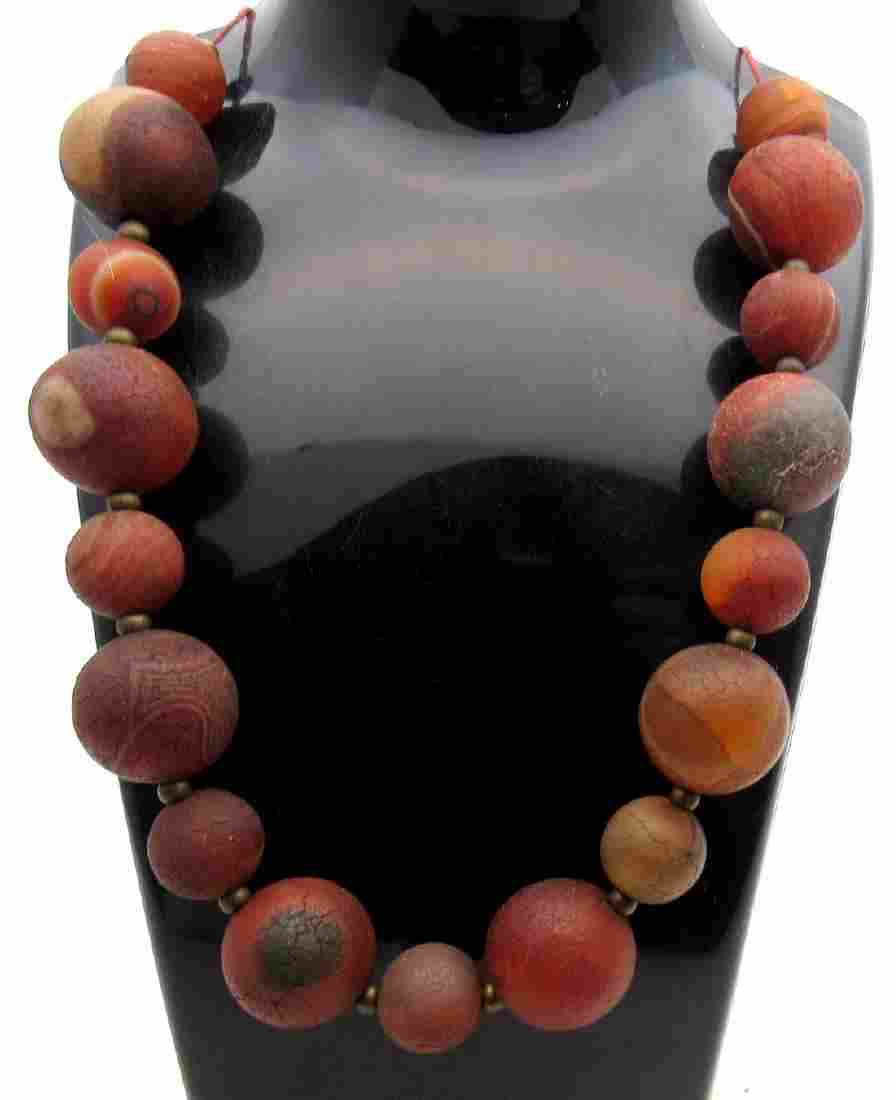 Medieval Baltic Amber Beaded Necklace