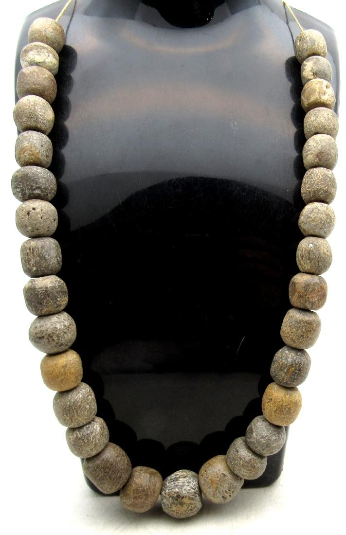 Neolithic Carved Bone Beaded Necklace