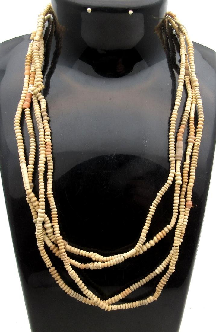 Ancient Egyptian Coptic Ceramic Beaded Necklace