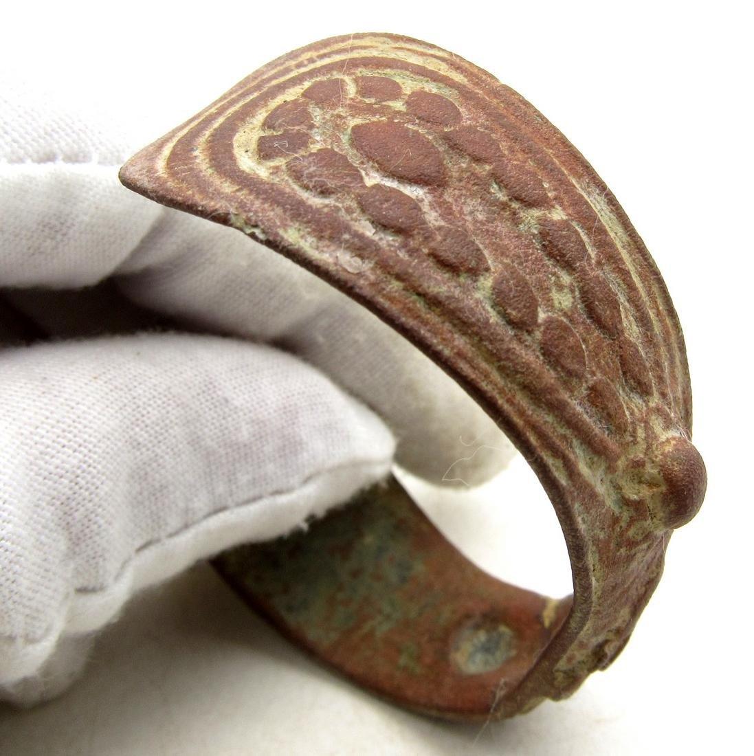 Late Medieval Tudor Era Bronze Fertility Bracelet - 3