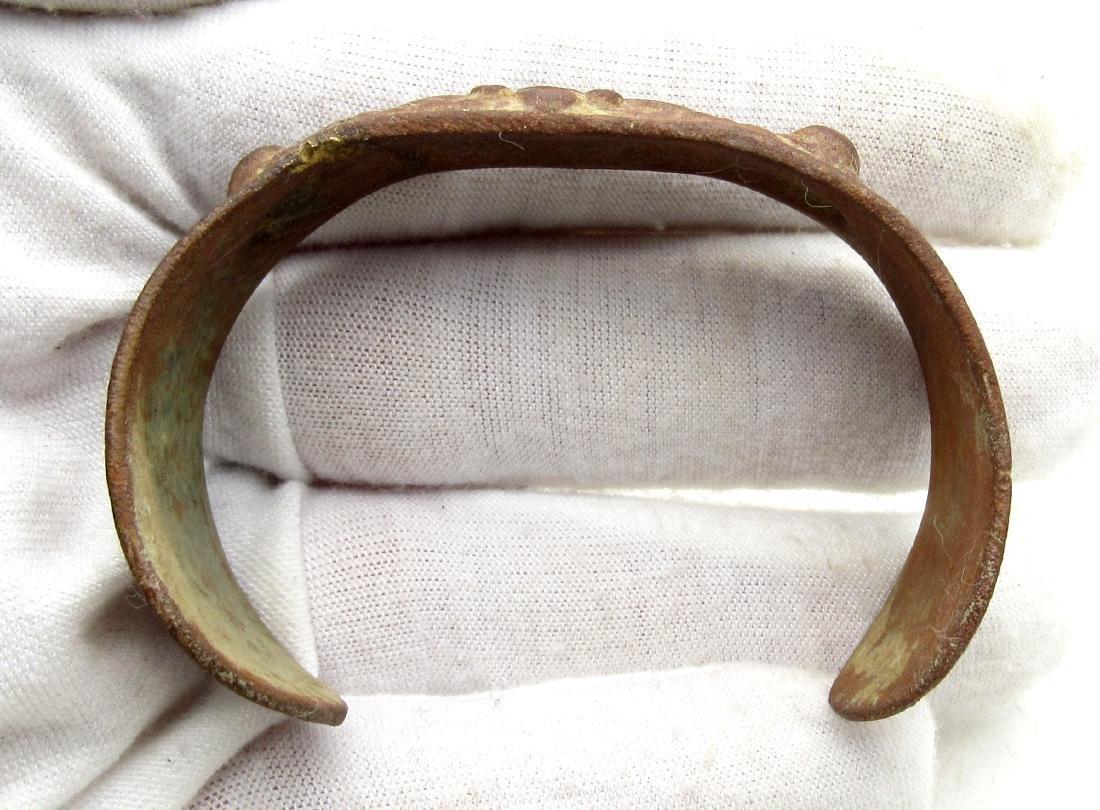 Late Medieval Tudor Era Bronze Fertility Bracelet - 4