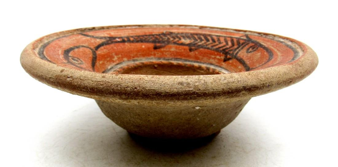 Ancient Indus Valley Terracotta Bowl with Fish Motif - 2