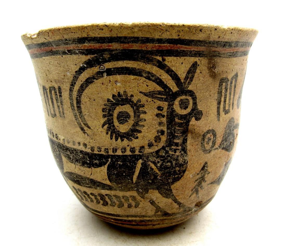 Ancient Indus Valley Terracotta Cup with Deer Motif