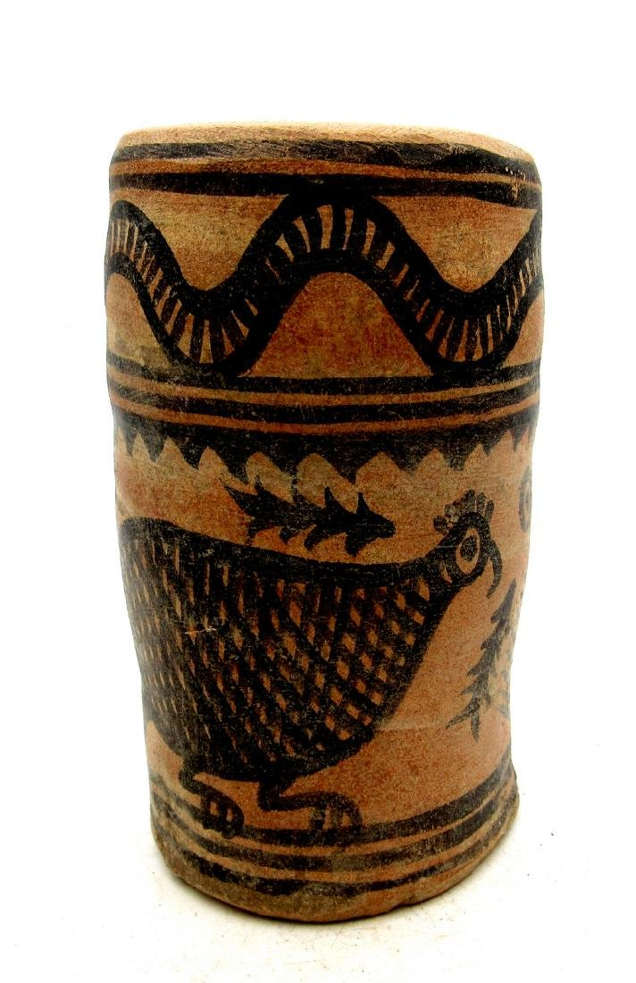 Ancient Indus Valley Terracotta Cup with Bird Motif