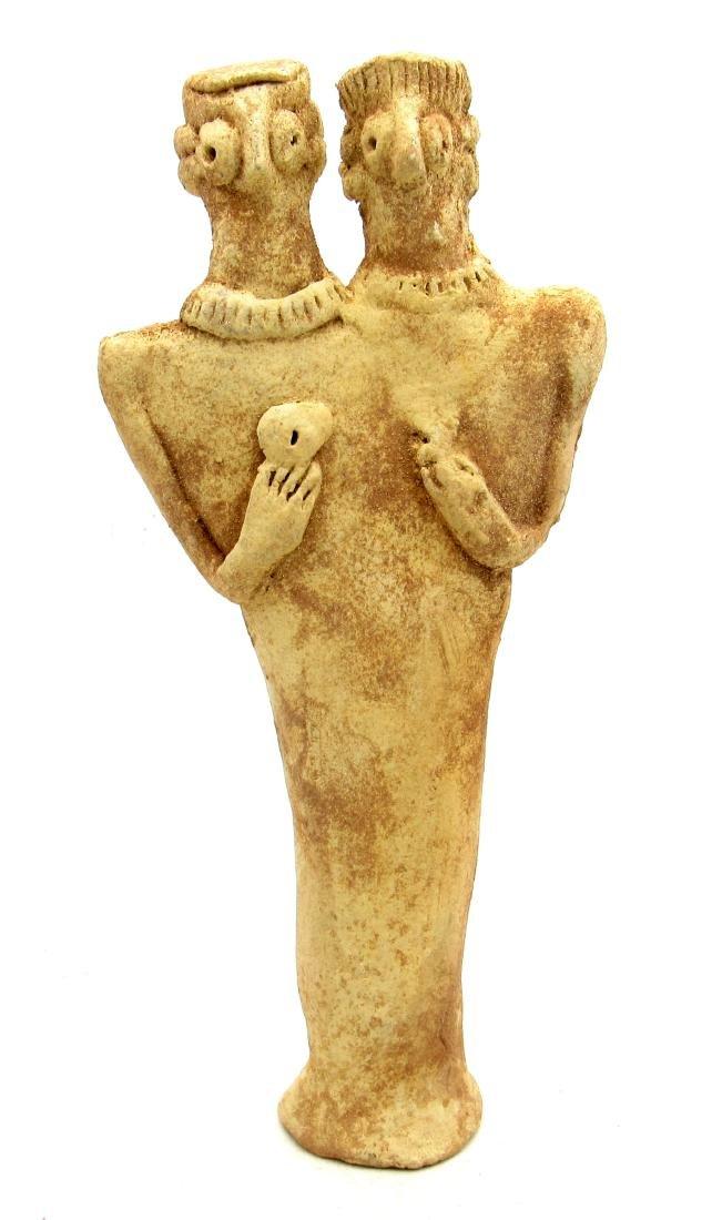 Ancient Syro Hytite Fertility Idol Male & Female Images