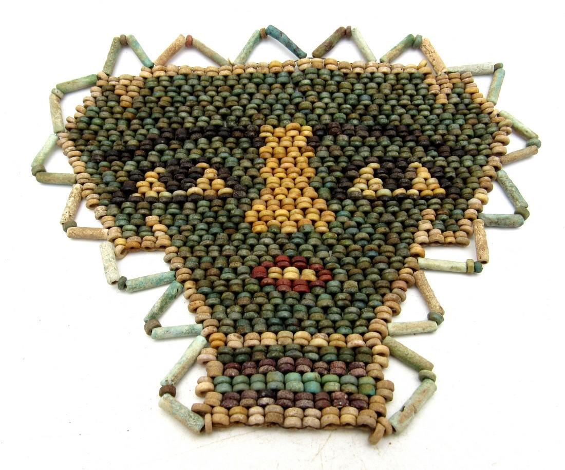 "Ancient Egyptian Ceramic Beaded ""Death Mask"""