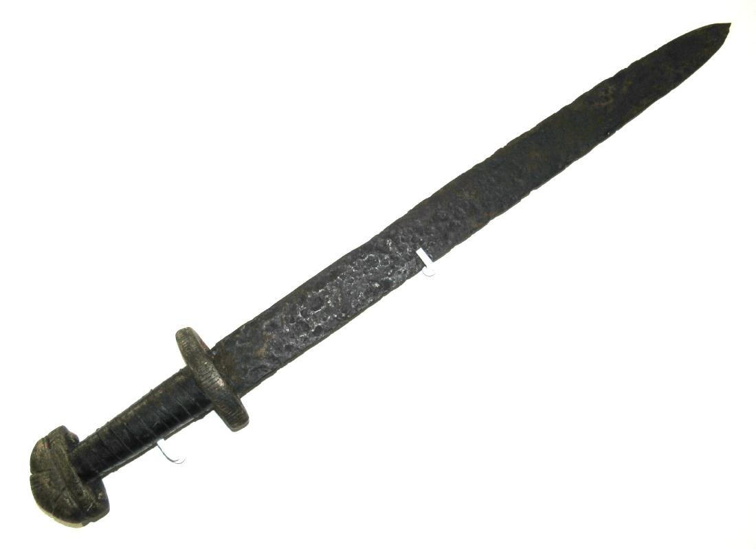 Medieval Viking Era Iron Sword with Handle - 3