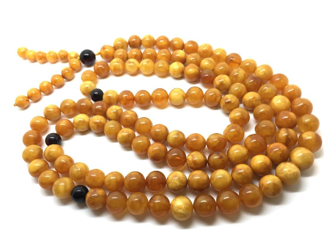 Baltic Amber Rosary Lucky Mala Egg Yolk