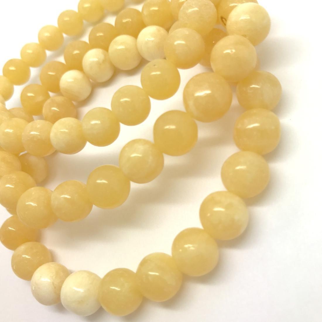 Baltic Jewelry Set x3 Bracelets Yellow-White Colour - 4