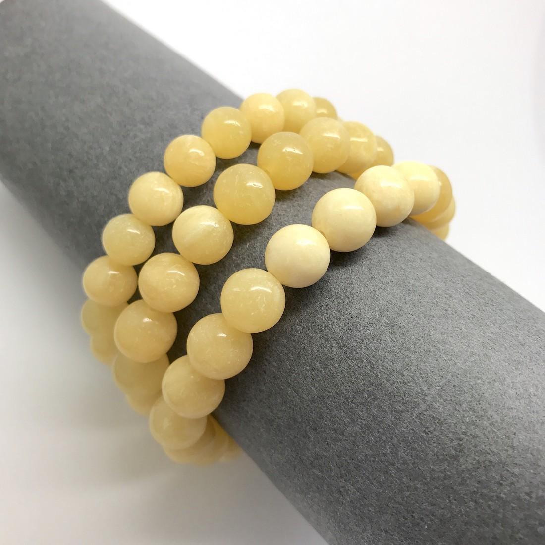 Baltic Jewelry Set x3 Bracelets Yellow-White Colour - 5