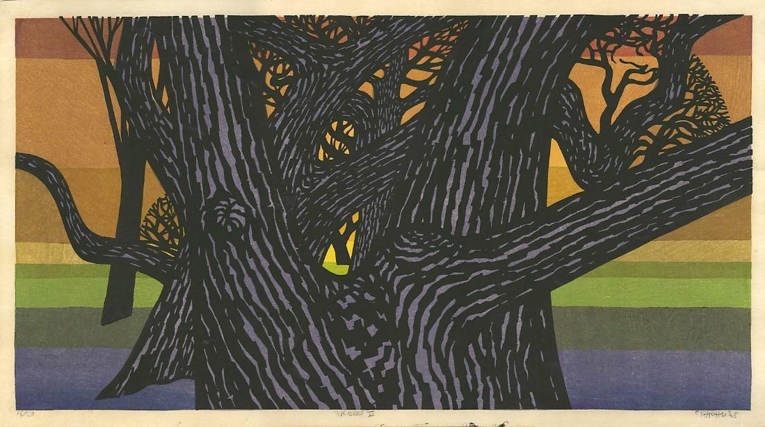 Clifton Karhu Woodblock Trees II