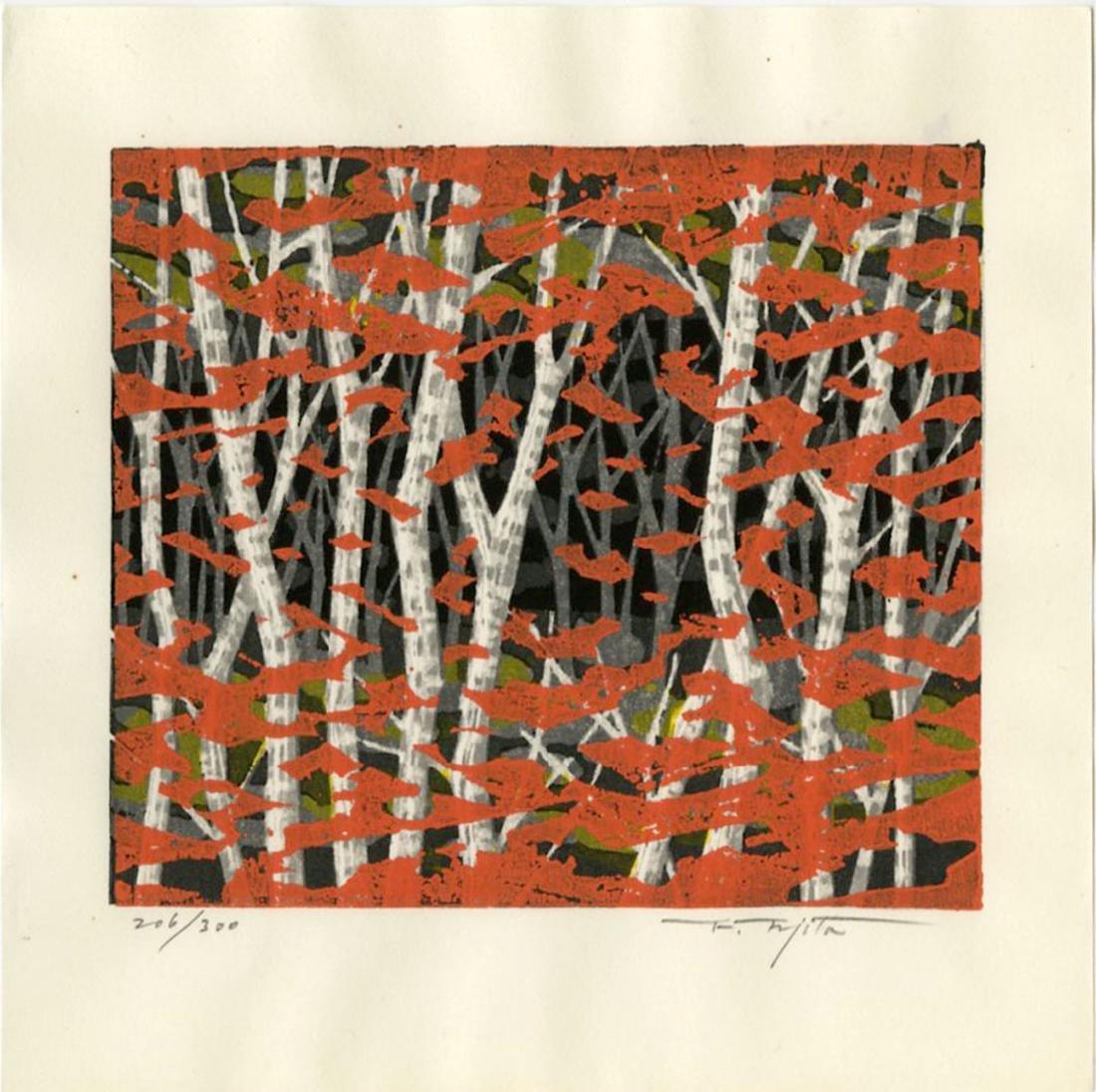 Fumio Fujita Woodblock Autumn