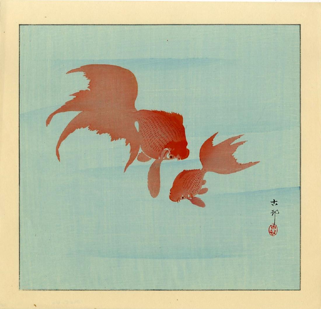 Ohara Koson Woodblock Two Goldfish
