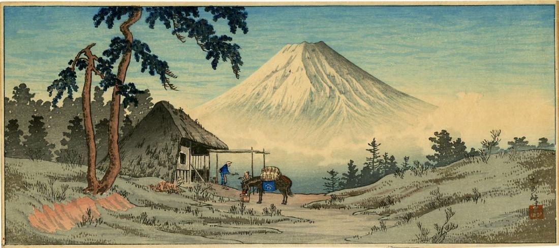 Shotei Takahashi Hiroaki Woodblock Otome Mountain Pass