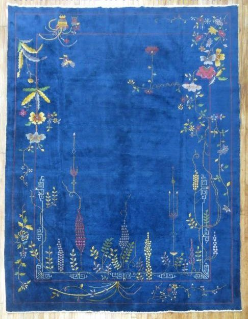 Antique Chinese Art Deco Rug 8.10x11.6