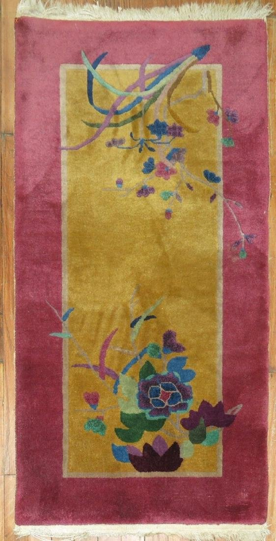 Antique Chinese Art Deco Rug 2.1x4.