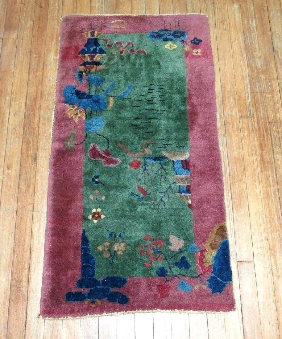 Antique Chinese Art Deco Rug 2.1x3.10