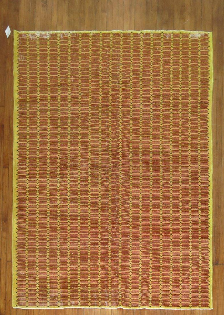 Vintage Turkish Oushak Ushak Konya Deco Rug 6.9x9.10