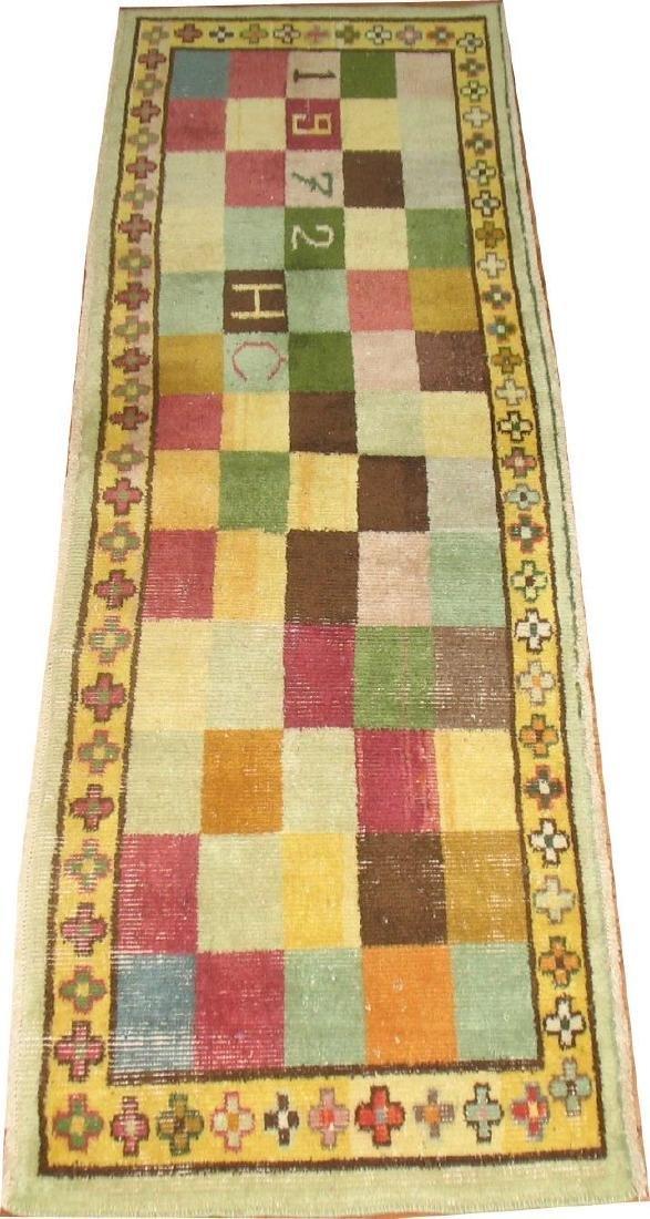 Vintage Turkish Oushak Ushak Konya Deco Rug 1.9x5.10