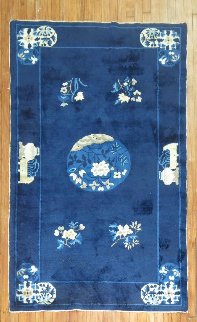 Antique Chinese Peking Rug 4x6.9
