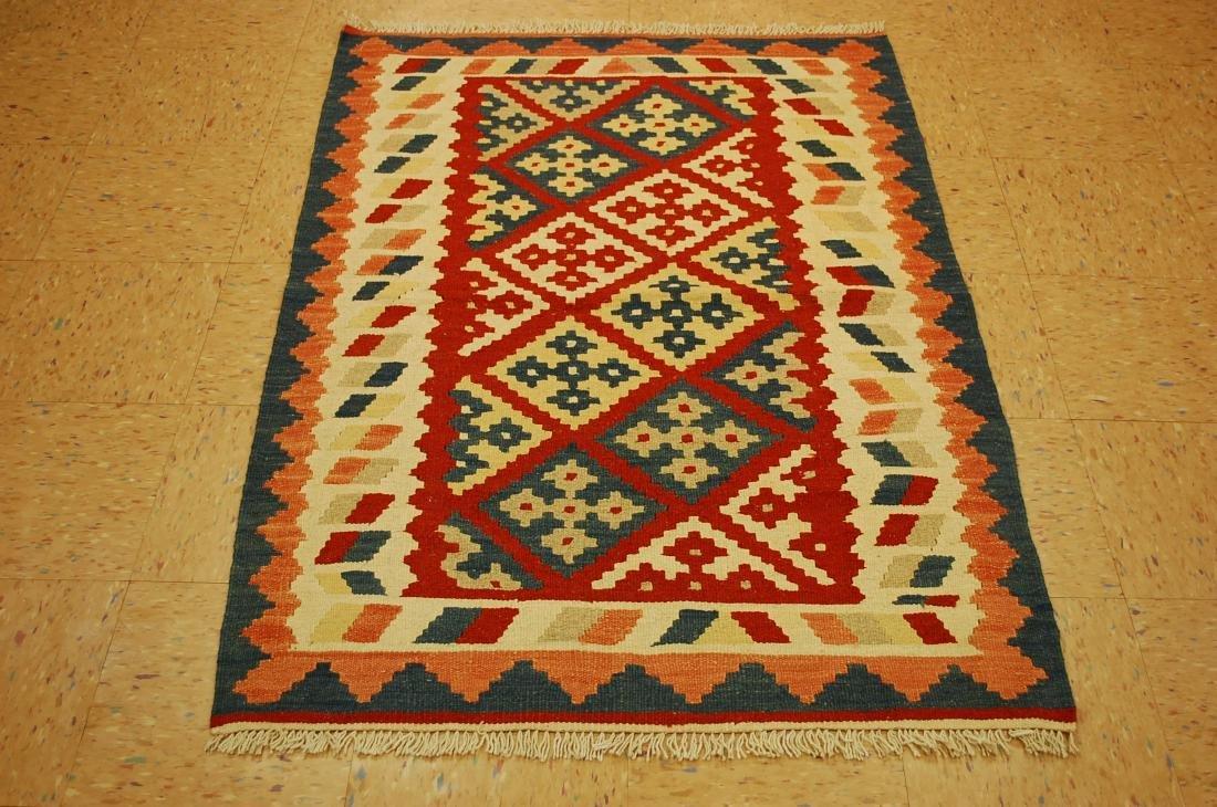 Caucasian Kilim Flat Woven Rug 3.5x5