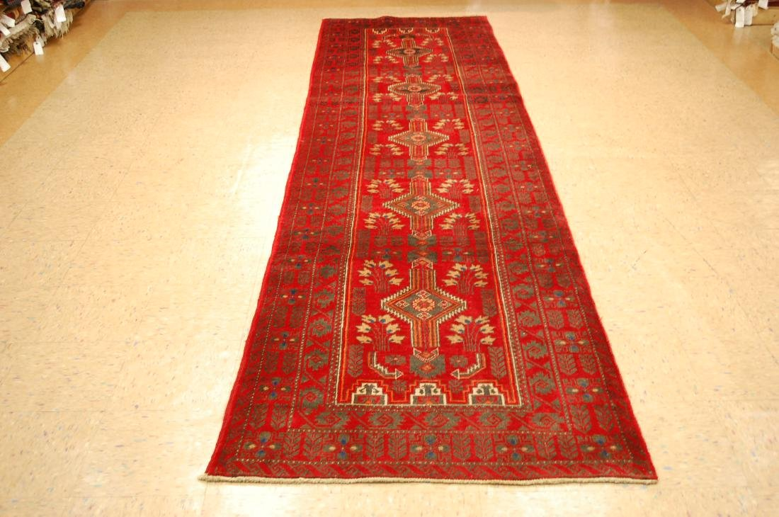 Great Subject Design Persian Balouch Rug 3.3x13