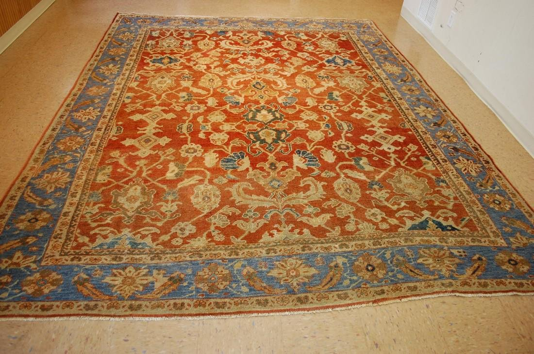 Antique Persian Sultanabad Mahal Rug 8.8x10.10