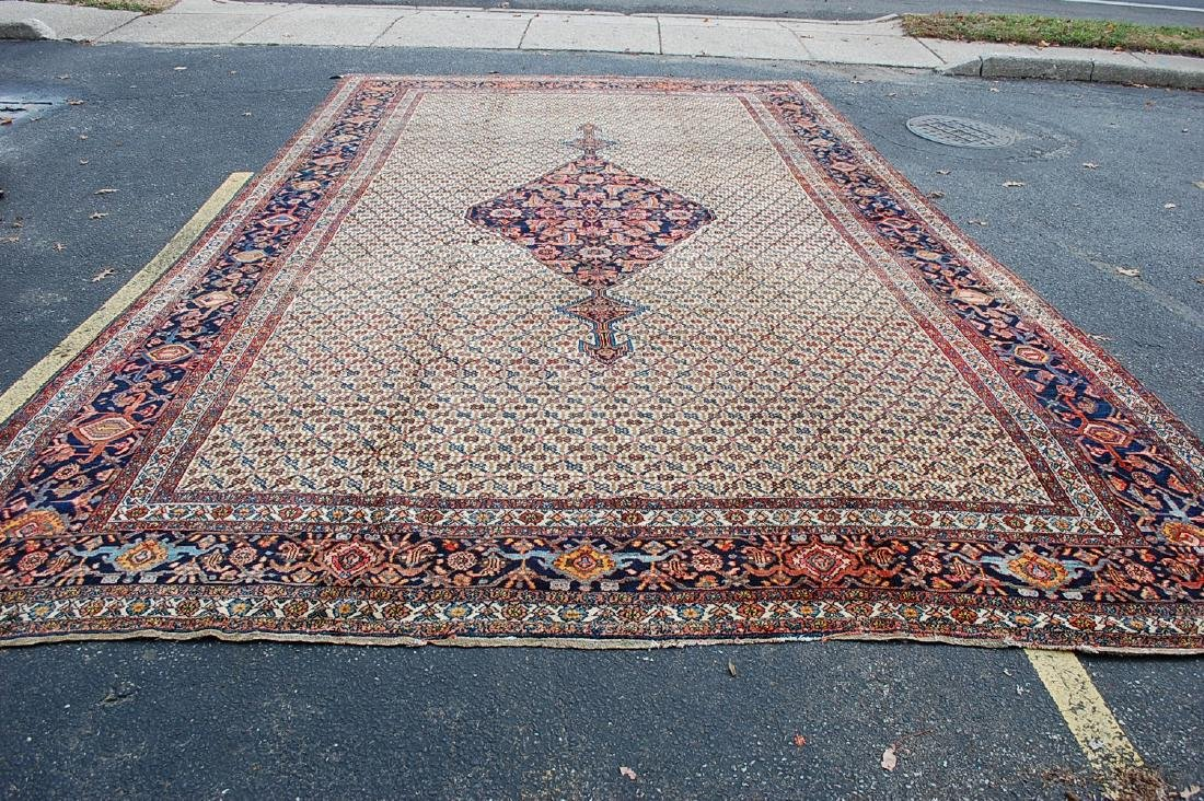 Antique Persian Bibikabad Rug 11.3x18.8