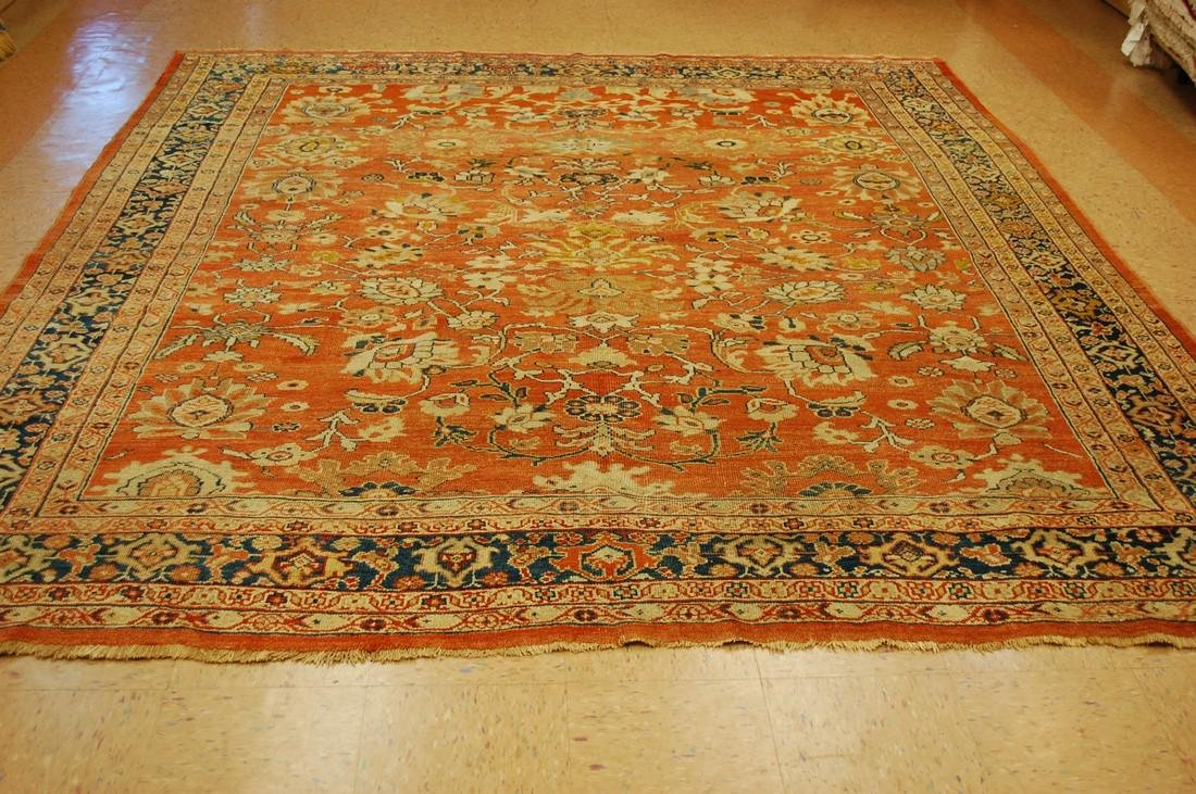 C1880s Antique Persian Ziegler Mahal Rug 9.2x9.7