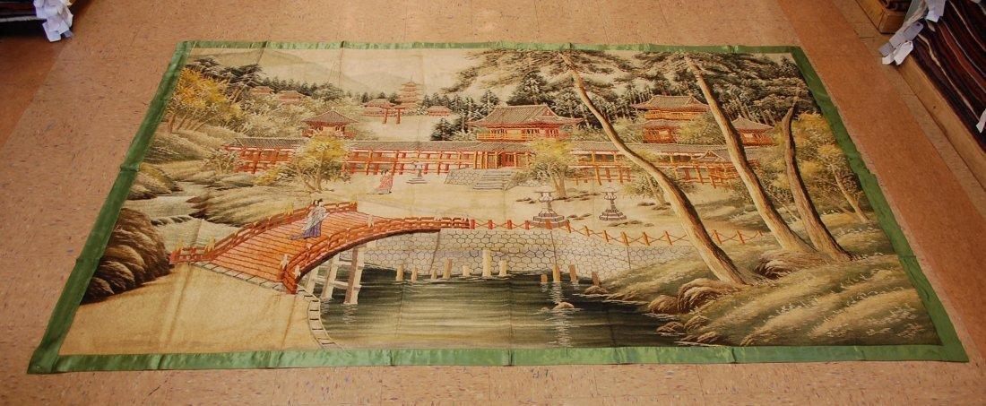 Antique Japanese Silk Hand Emboridery 5.3x9.10