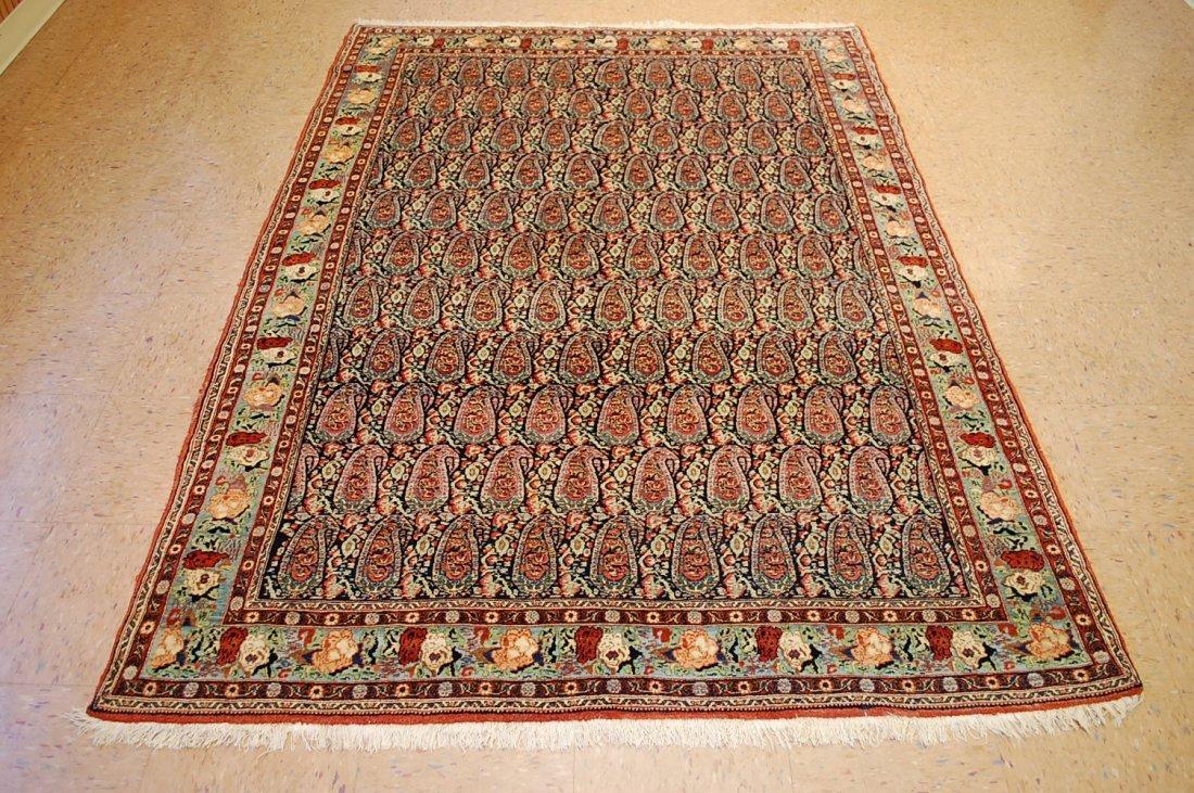 Antique 7 Color (Haft Rang) Persian Senneh Rug 5.2x7.3