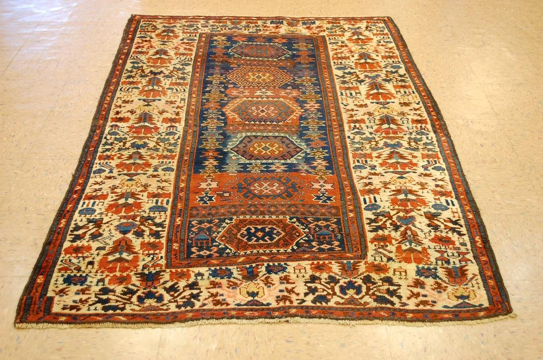 Antique Caucasian Kourdish kord Rug 4.8x7