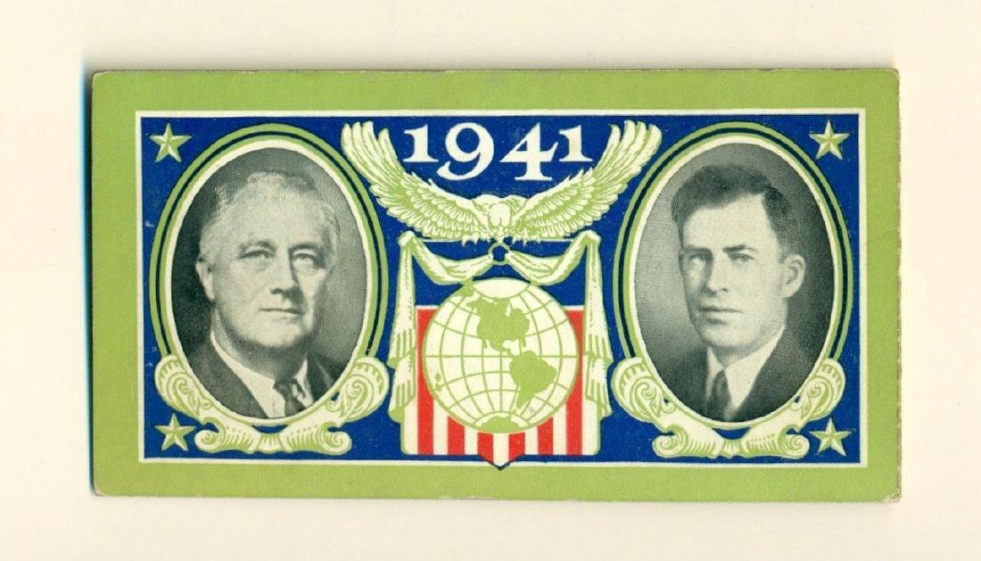 Fdr 1941 Jugate Roosevelt / Wallace Inauguration Ticket