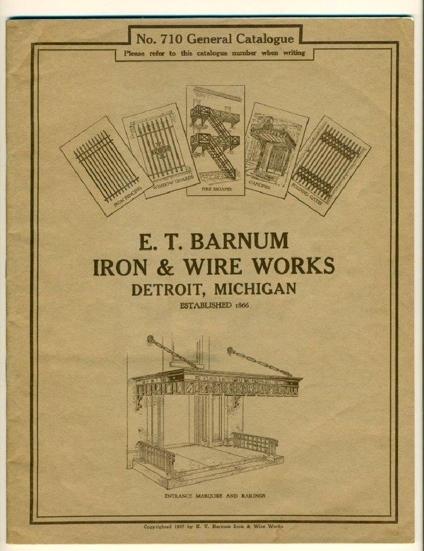1927 Catalog E T Barnum Iron & Wire Works Detroit Fence
