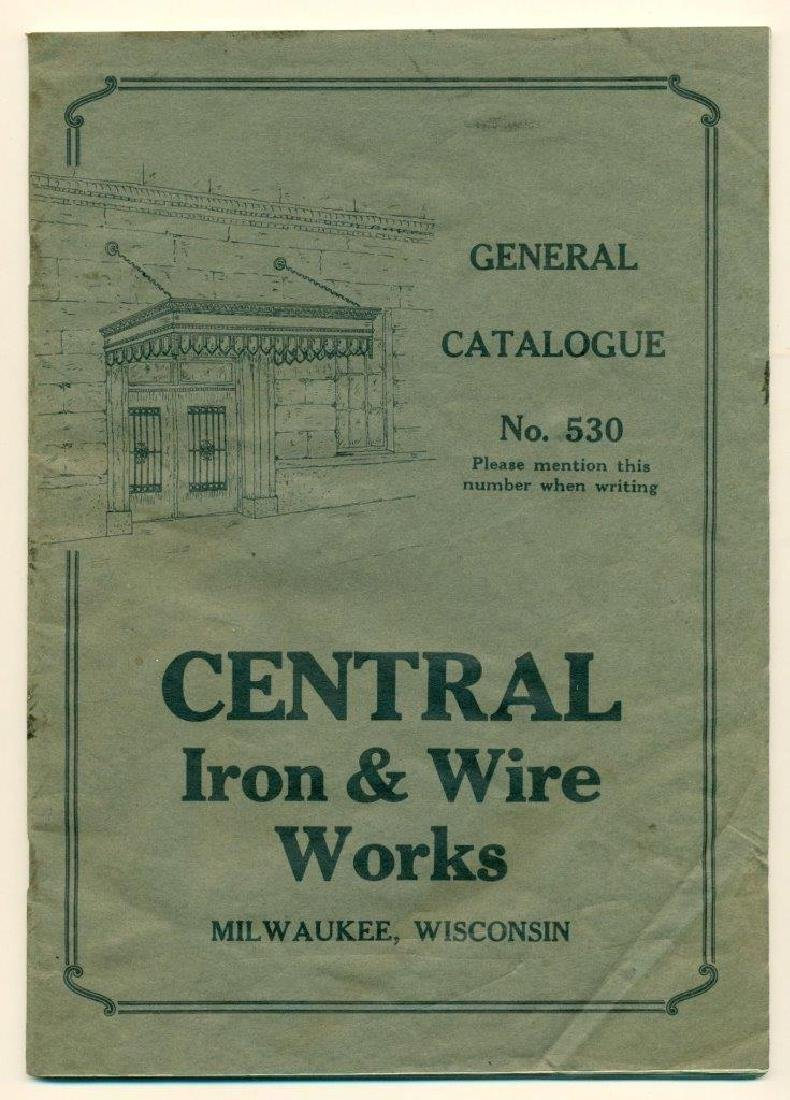 1930s Central Iron Wire Works Milwaukee Wisconsin Fence