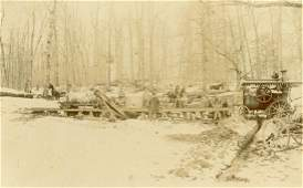 1890 Logging Camp Steam Engine Saw Mill Berrien Springs