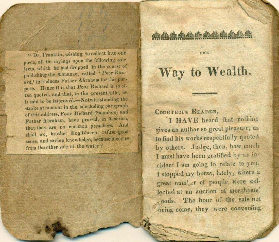 1758 the Way to Wealth Benjamin Franklin, Poor Richard