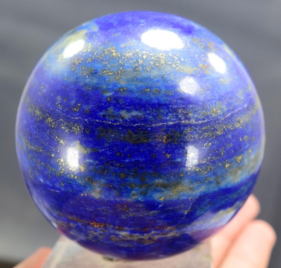 626 Gram round shape lapis lazuli ball