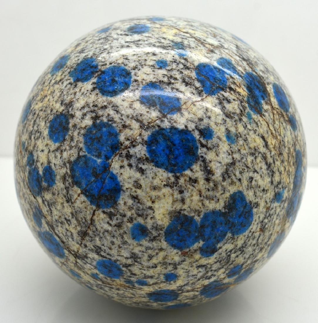 1300 Grams Rare Azurite in Granite Round Ball