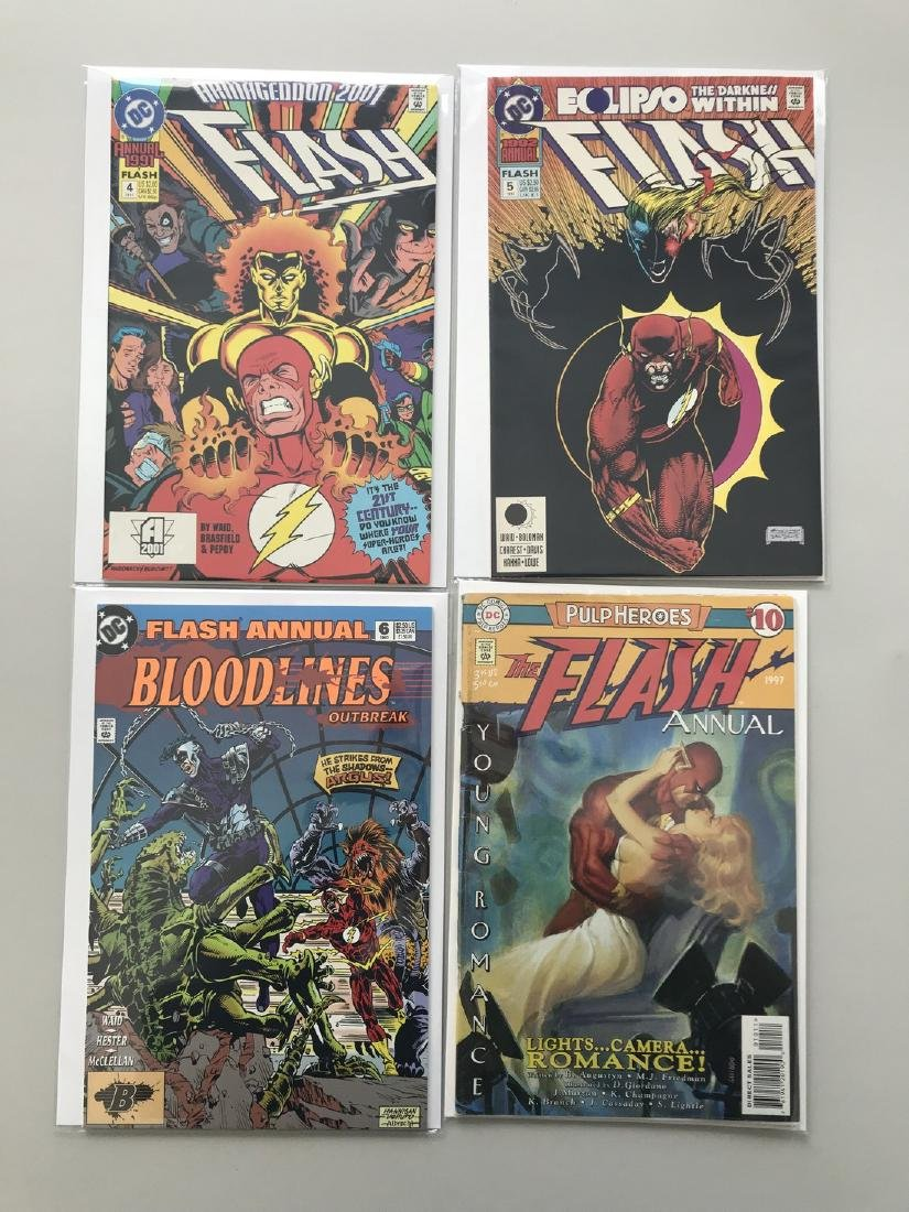 Lot of 8 Flash (2nd Series) Annual 4-6 10 Flash Fastest