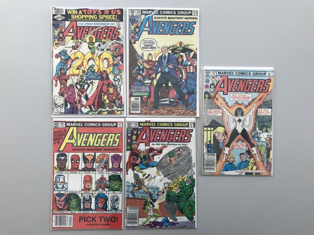 Lot of 5 Avengers (1963 1st Series) #200 201 221 222