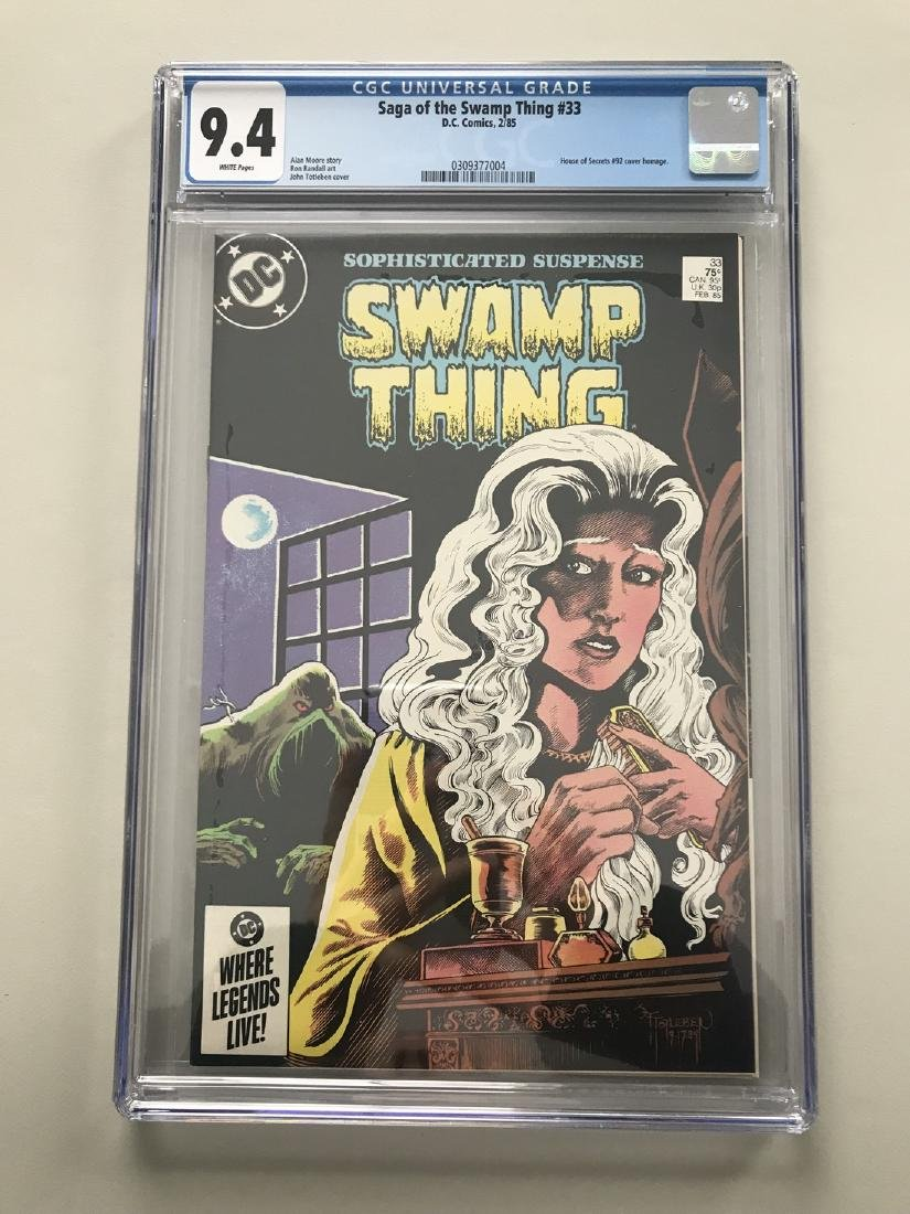 Swamp Thing (1982 2nd Series) #33 CGC 9.4 NM Near Mint