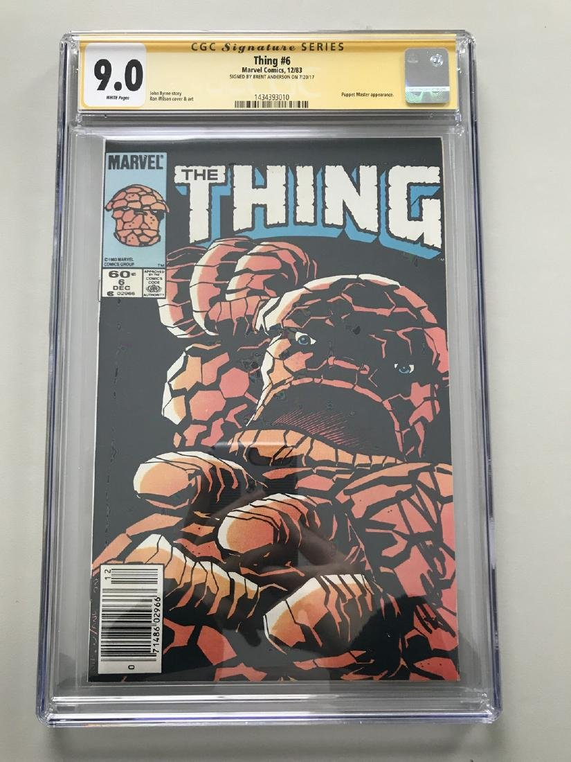 Thing (1983-1986 1st Series) #6 Signed by Brent