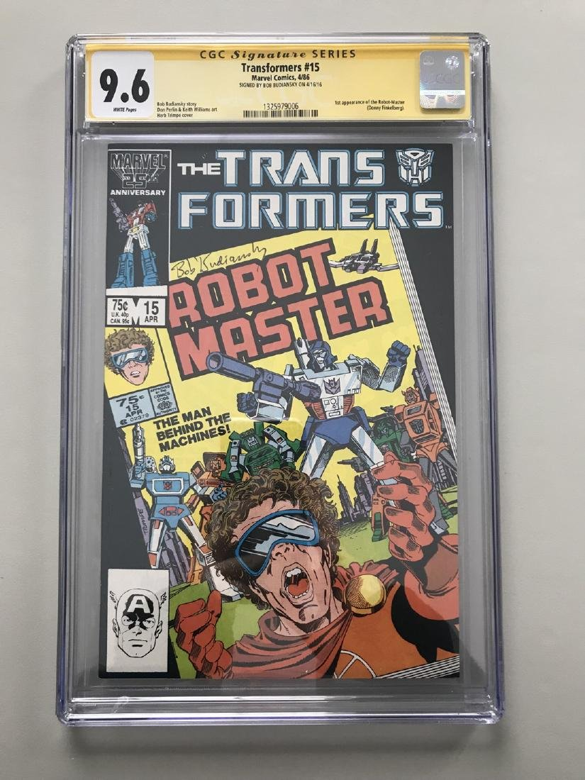 Transformers (1984 Marvel) 1st Printing #15 Signed by