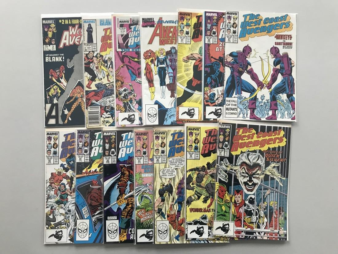 Lot of 25 West Coast Avengers (1984 Limited Series) #2