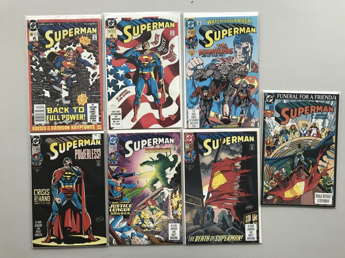 Lot of 12 Superman (1987 2nd Series) from #50-80 VF