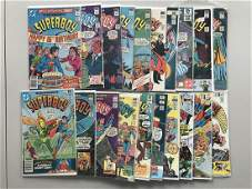 Lot of 29 New Adventures of Superboy (1980 DC) #1-53 FN